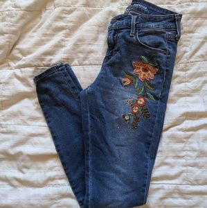 Old Navy embroidered rockstar jeans
